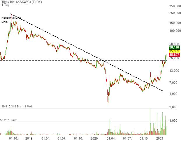 Tilray Inc. (18,92%)