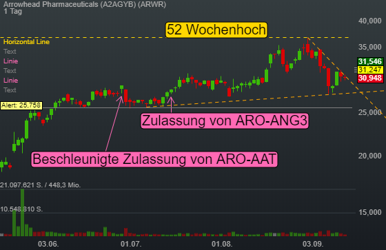 Arrowhead Pharmaceuticals (4,33%)